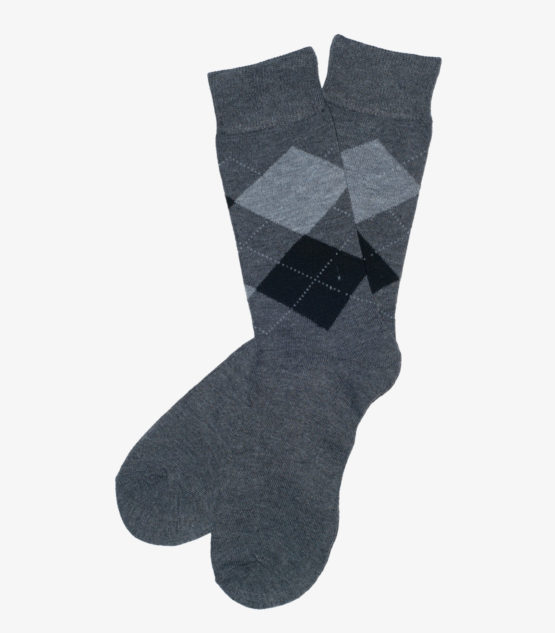 Gray and Black Argyle Socks
