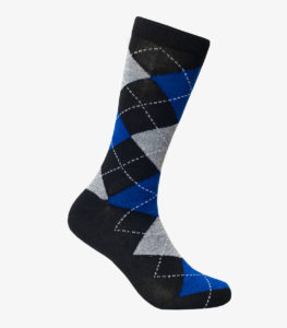 Black and Blue Argyle Socks